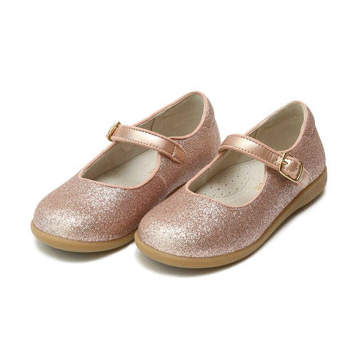 Marilla Rosegold Glitter Mary Jane - L'Amour Shoes