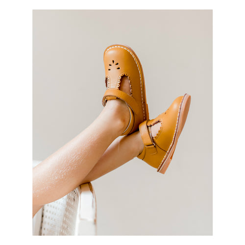 Angie Scalloped T-Strap Mary Jane - L'Amour Shoes