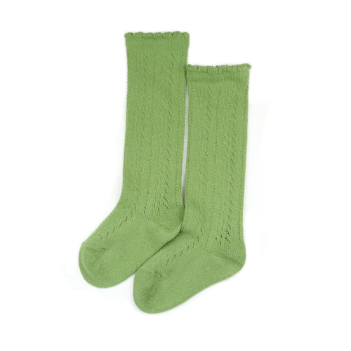 L'Amour Socks - Sage Crochet Knee High Socks