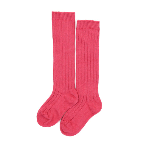 L'Amour Toddler Girls Cherry Ribbed Knee High Socks  - L'Amour Shoes