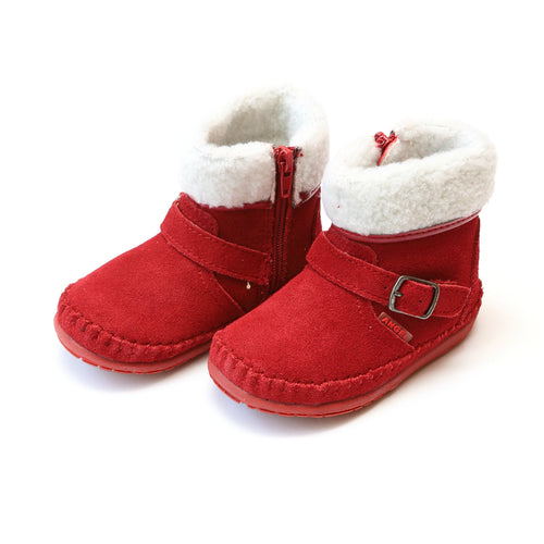 Aubin Fleeced Winter Short Boot (Baby) - Angel Baby Boots