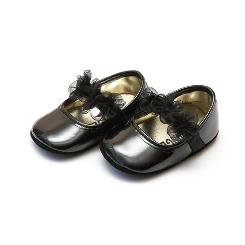Lulu Organza Patent Black Special Occasion Mary Jane (Infant) - L'Amour Baby Shoes