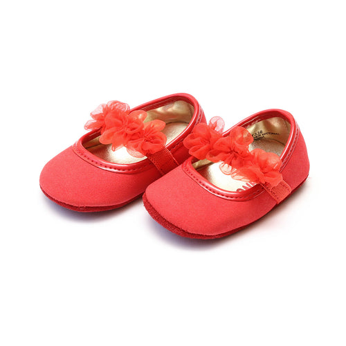 Lulu Organza Red Special Occasion Mary Jane (Infant) - L'Amour Baby Shoes