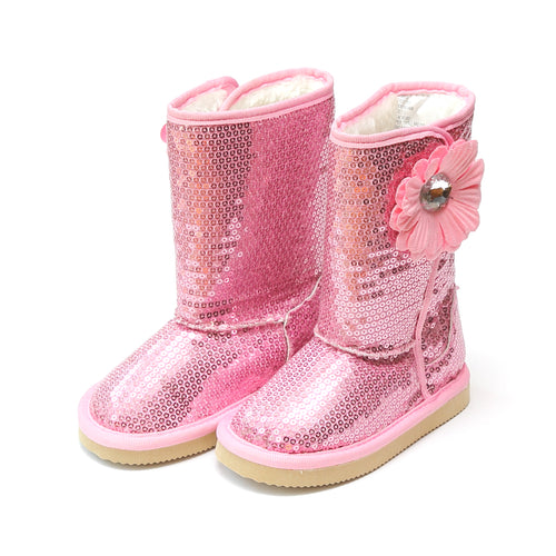 Ivy Sequin Flower Boot - L'Amour Boots