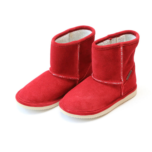 Noelle Suede Faux Shearling Short Boot - L'Amour Shoes