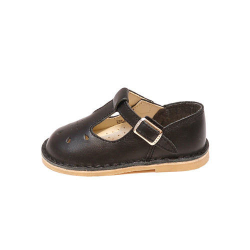 Bonnie Stitch Down Leather T-Strap Mary Jane (Limited - Black)