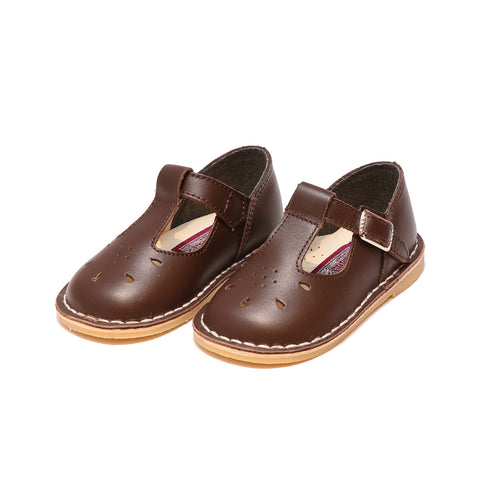Bonnie Stitch Down Leather T-Strap Mary Jane (Limited - Brown)