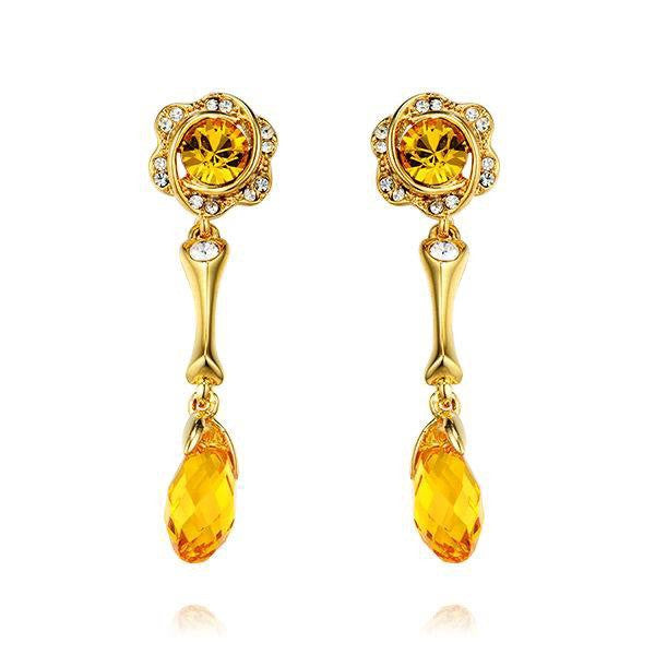The golden princess citrine earring - CDE Jewelry Egypt