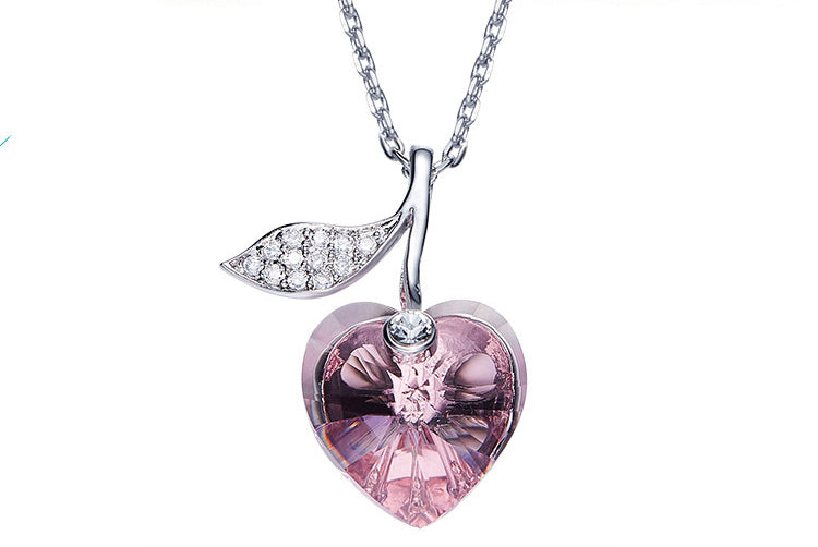 The pink apple swarovski necklace - CDE Jewelry Egypt