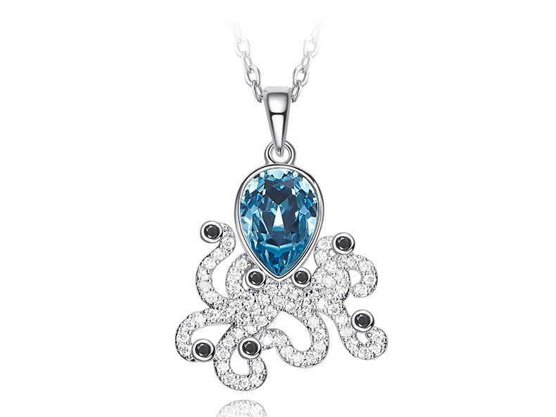 The blue topaz octopus necklace - CDE Jewelry Egypt