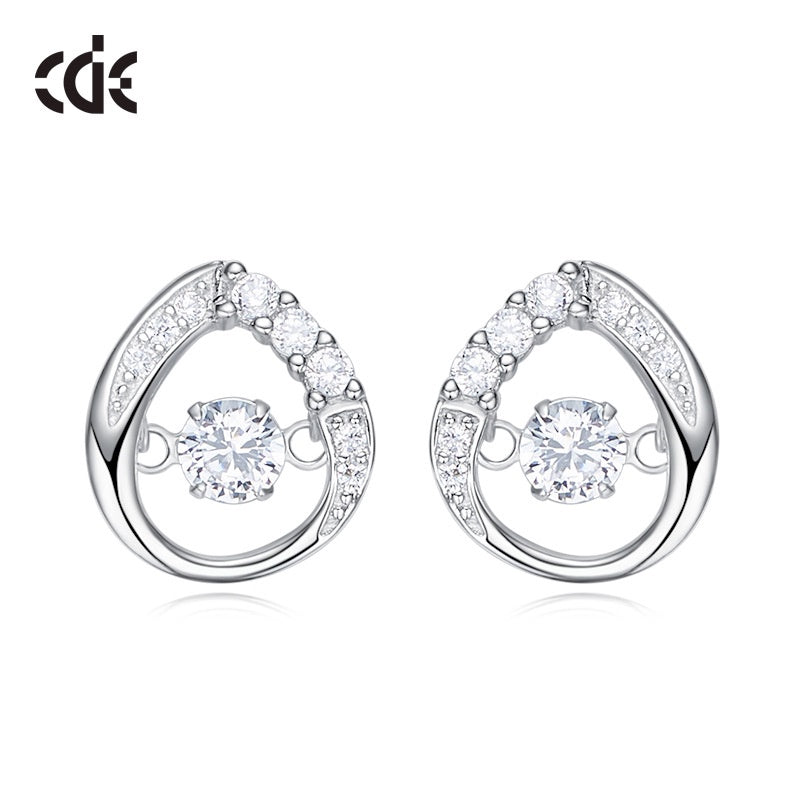 Sterling silver elegant dancing crystal earring - CDE Jewelry Egypt