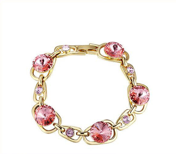 The golden rose swarovski crystal bracelet - CDE Jewelry Egypt