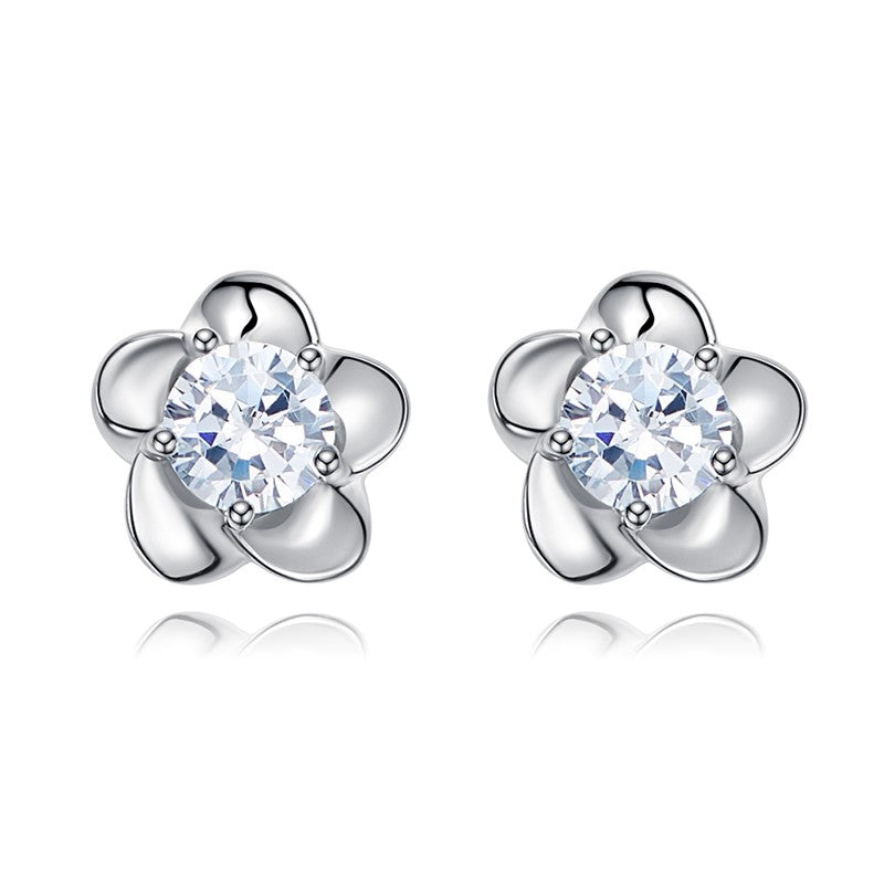 Sterling silver cute little flowers earring - CDE Jewelry Egypt