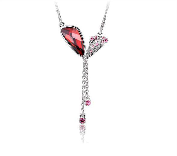 The cute ruby butterfly wings necklace - CDE Jewelry Egypt