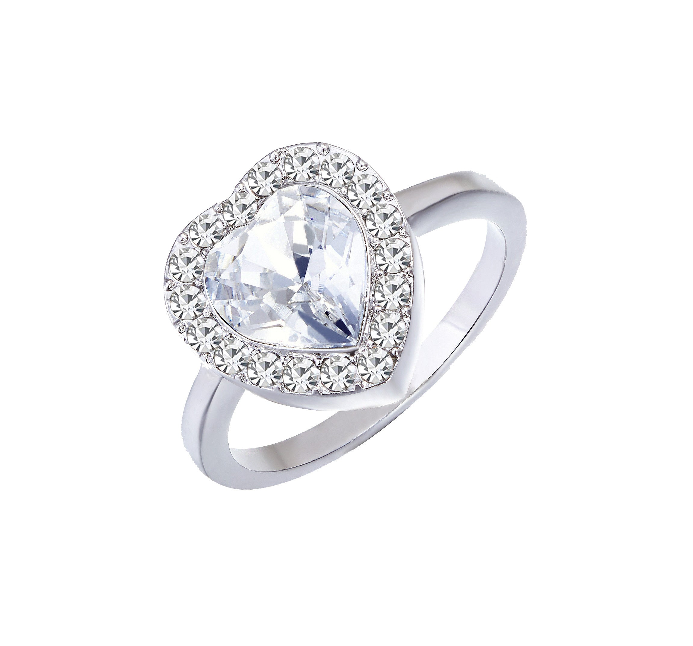 The shining heart shaped ring - CDE Jewelry Egypt