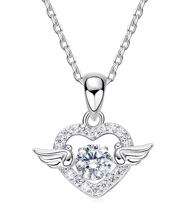 Lady Angel Wing Necklace, Pendant Necklace The Most Romantic Gift 925 Sterling Silver - CDE Jewelry Egypt