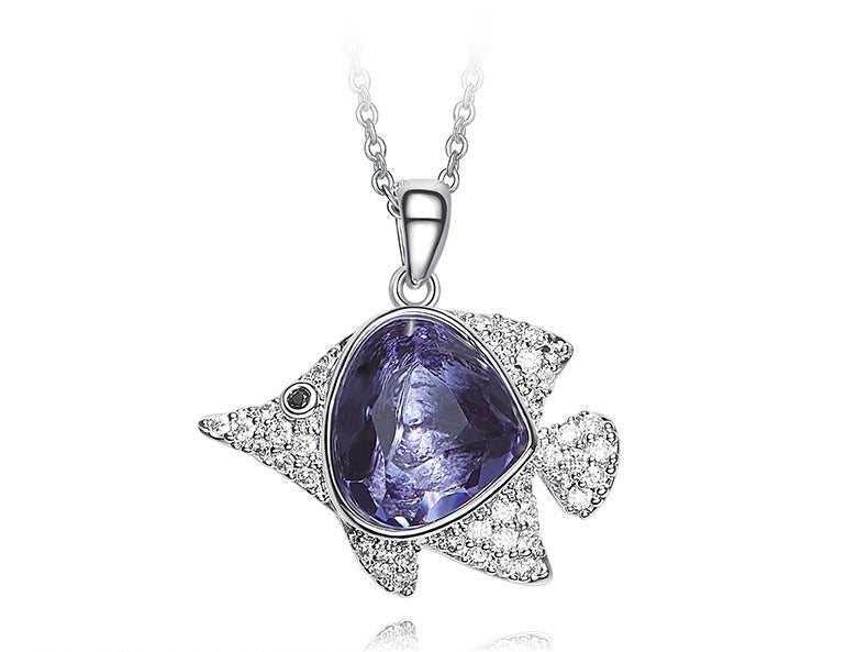 The fantasy amethyst fish necklace - CDE Jewelry Egypt