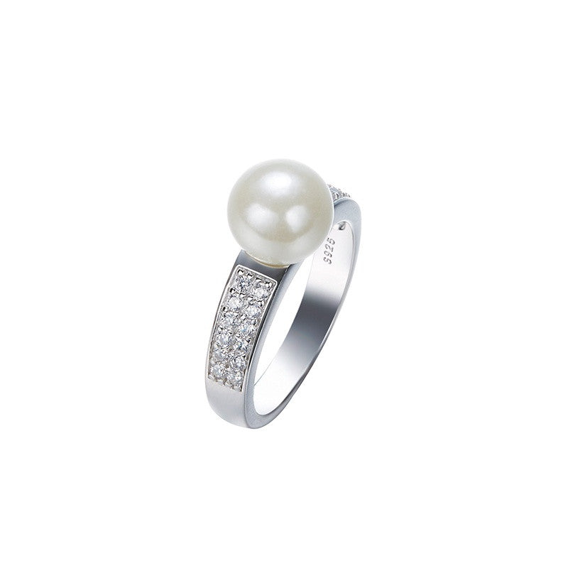 Sterling silver classy pearl ring - CDE Jewelry Egypt