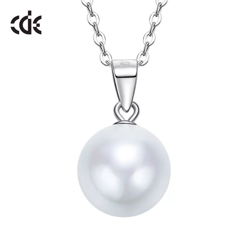 Sterling silver simple little white pearl necklace - CDE Jewelry Egypt