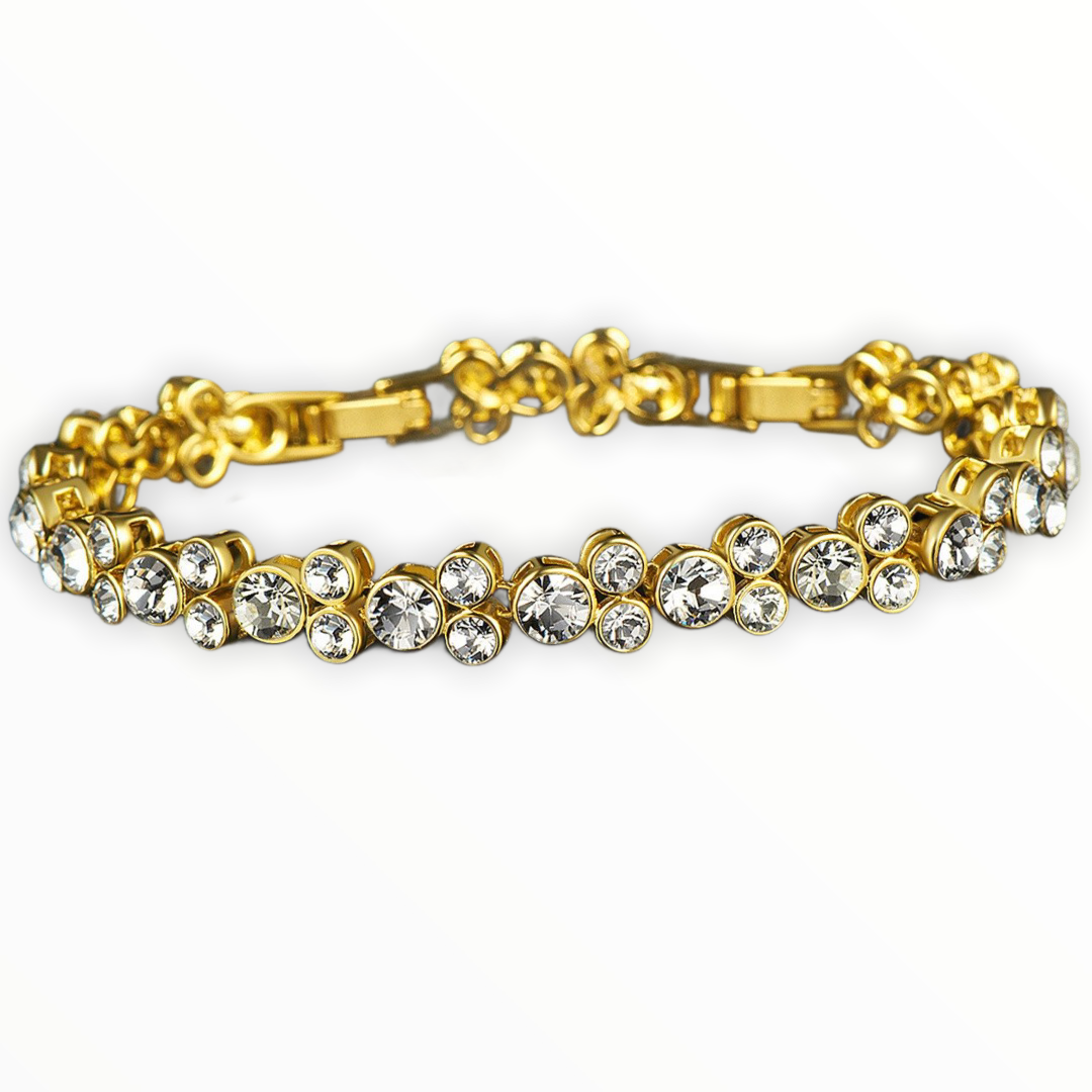 The golden Mickey shape crystals bracelet - CDE Jewelry Egypt
