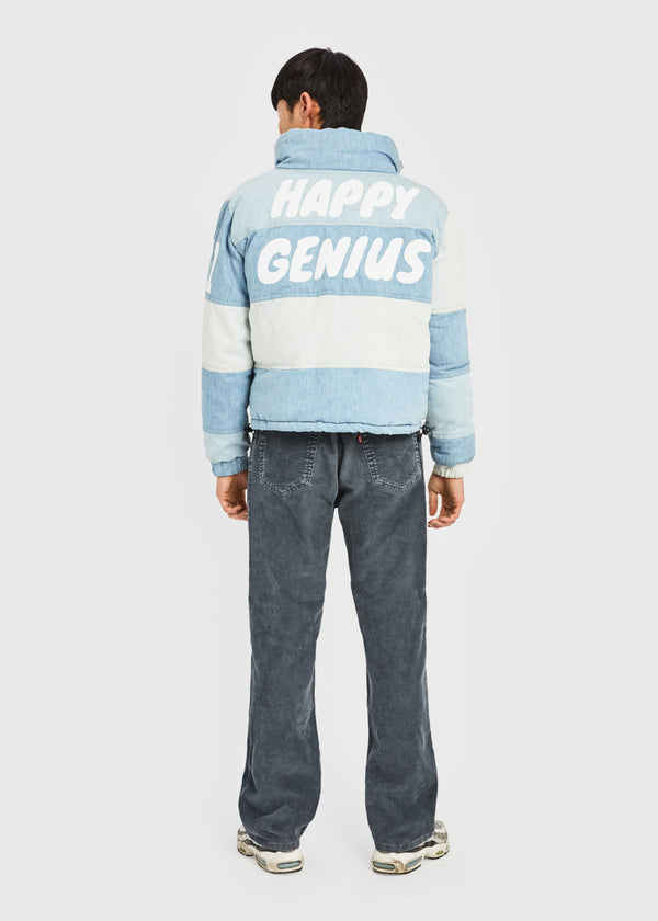 HAPPY GENIUS Denim Puffer Jacket