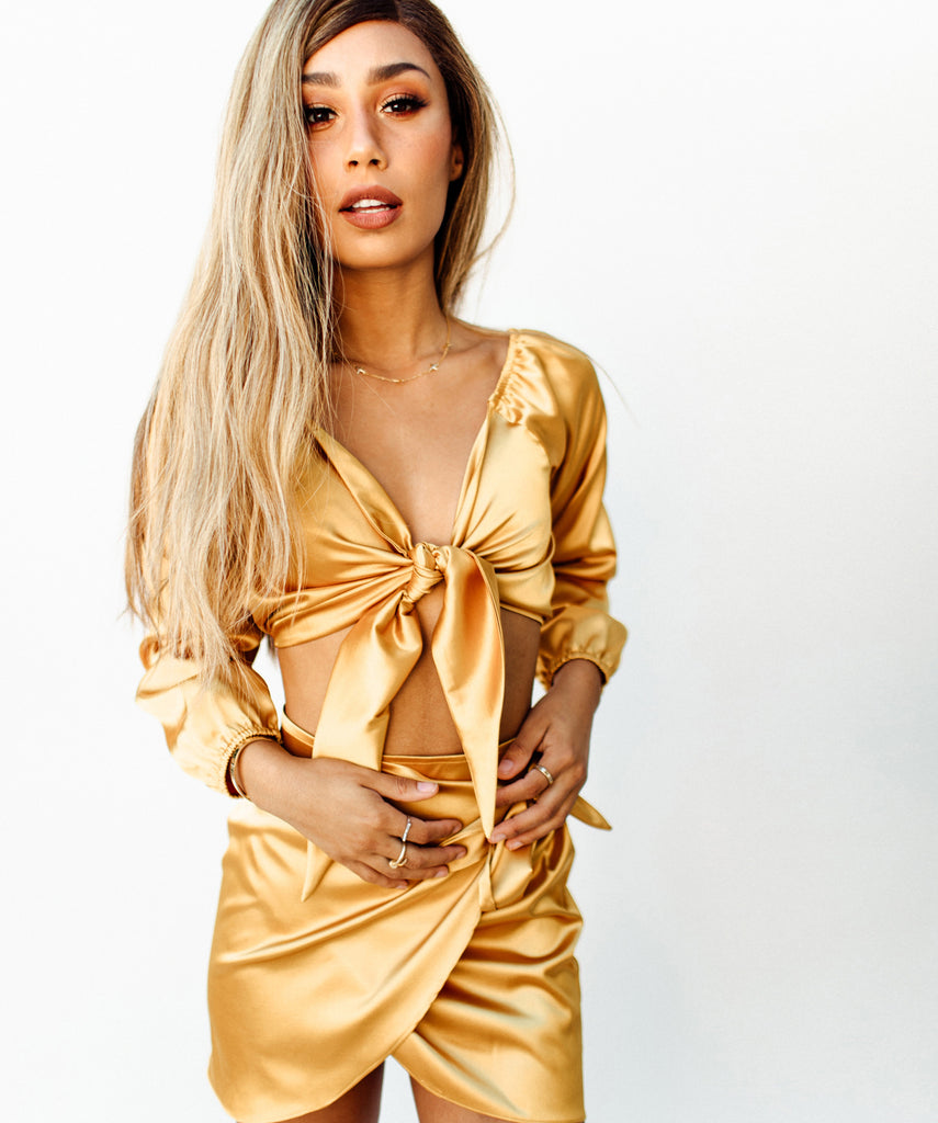 The Bardot Top - Gold