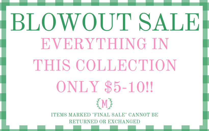Blowout Sale: EVERYTHING $5-10