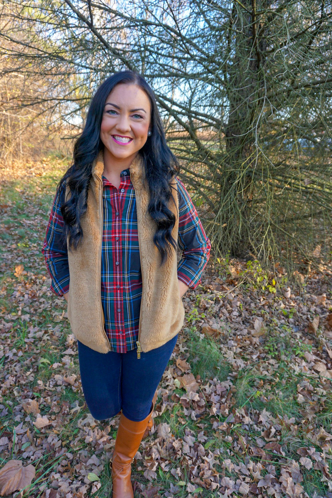 preppy plaid outfits for women