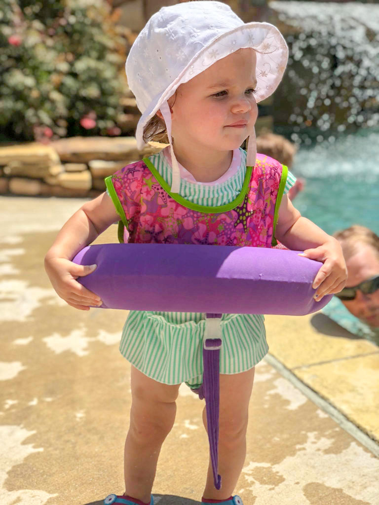 baby swimsuit, osage beach, land's end condo pool