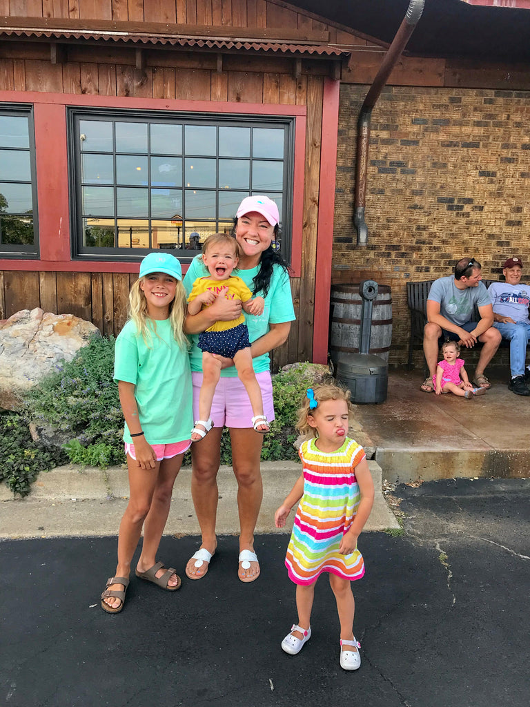 wobbly boots, ozarks restaurant, funny family photo