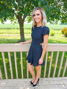 ASTR dress, navy dresses for women, women's lace dresses, fall dresses, college formal dresses
