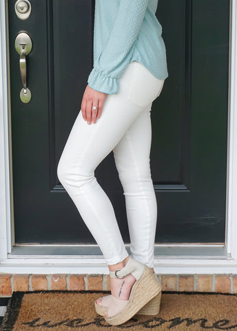 Grace & Lace White Ankle Length Jeggings