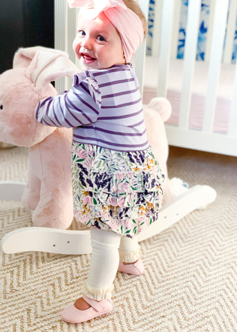 Baby and Toddler Ivory Footless Tights