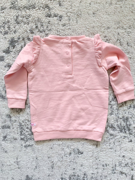 RuffleButts Light Pink Girls' Sweatshirt