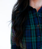 plaid button down shirts, button down shirts for women, rochelle behrens shirt