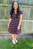 women's striped dress, apparel for women, wear to work outfits for women, women's work dresses