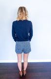 preppy shorts outfit, fall shorts outfit, shorts and boots, scallop shorts outfit