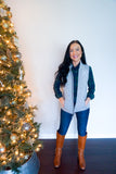 plaid top and vest outfit, trendy winter outfits for women, southern preppy style for women