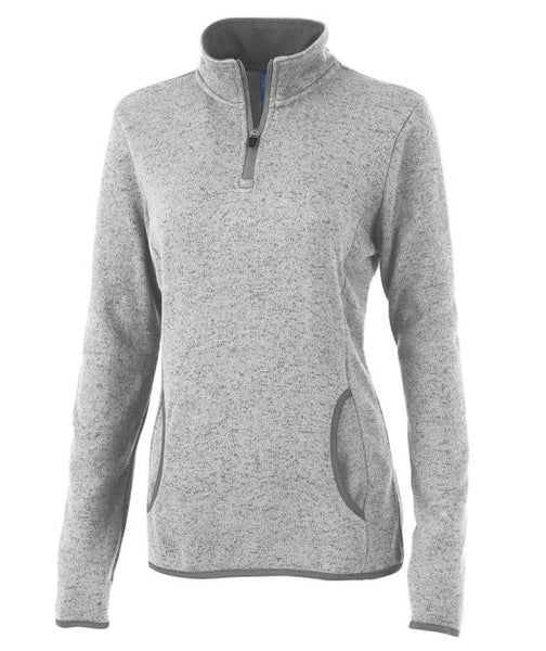 heathered grey pullover, heathered grey fleece