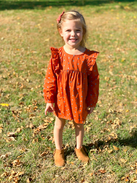 orange fall dresses for girls