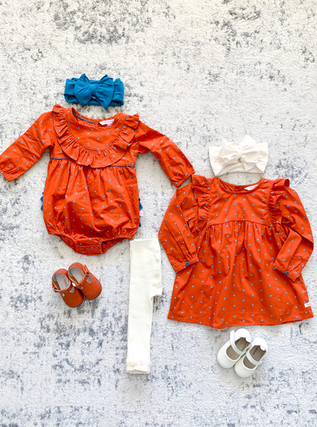 matching fall dresses for girls