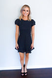 ASTR navy dress, ASTR the label, women's fashion boutique, fall fashion trends, fall dress