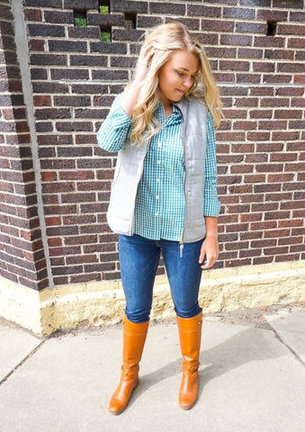 preppy vests, vest outfits for women, fall vest outfits