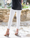 women's white cropped jeans