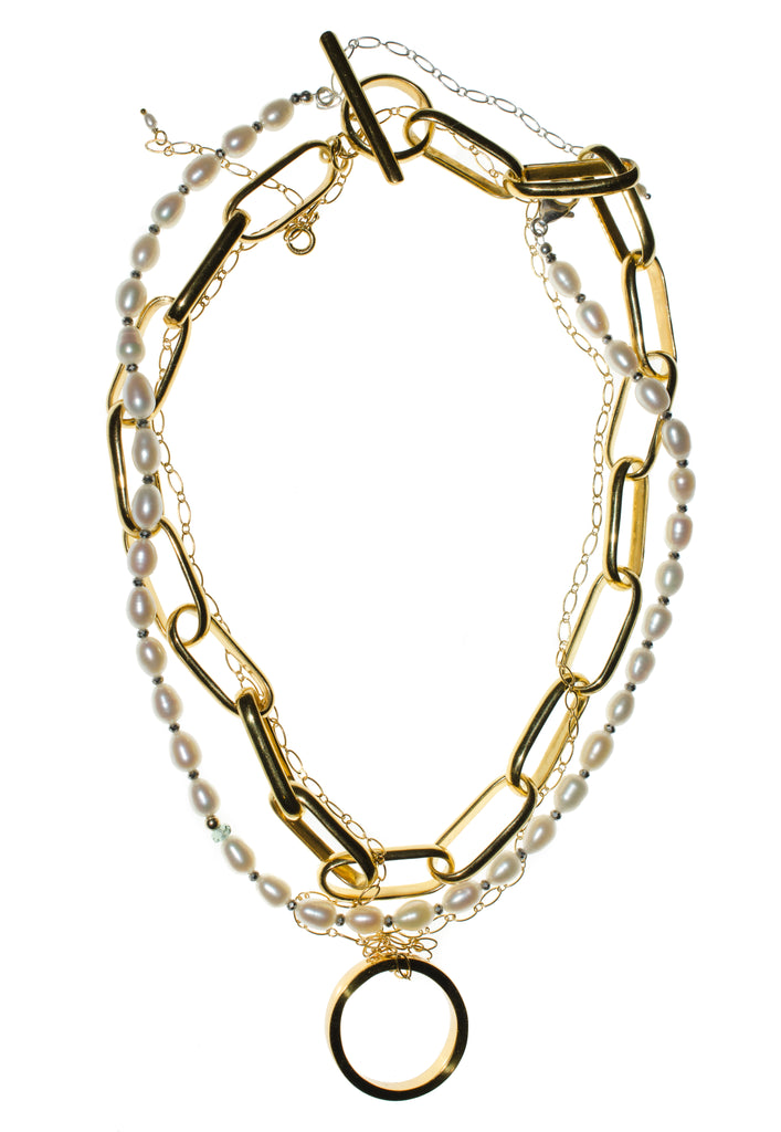 18K GOLD CHAIN LINK NECKLACE