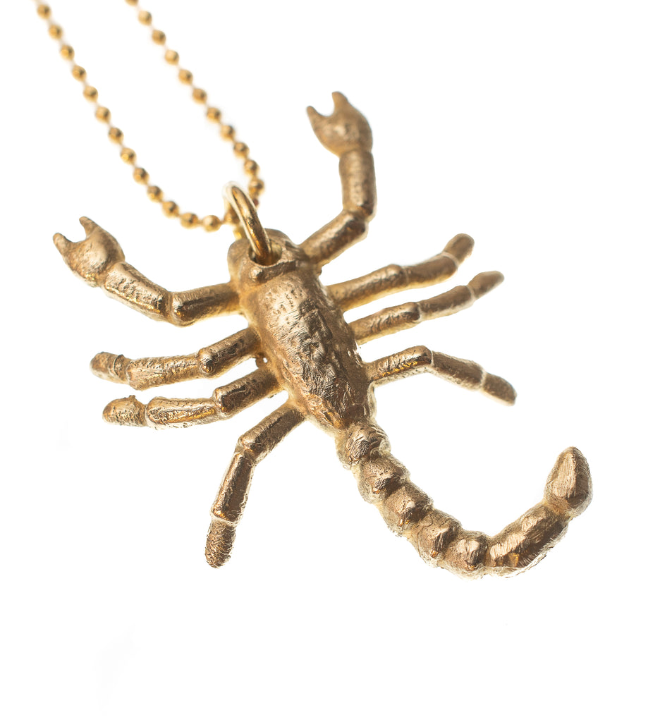 SCORPION CHARM NECKLACE