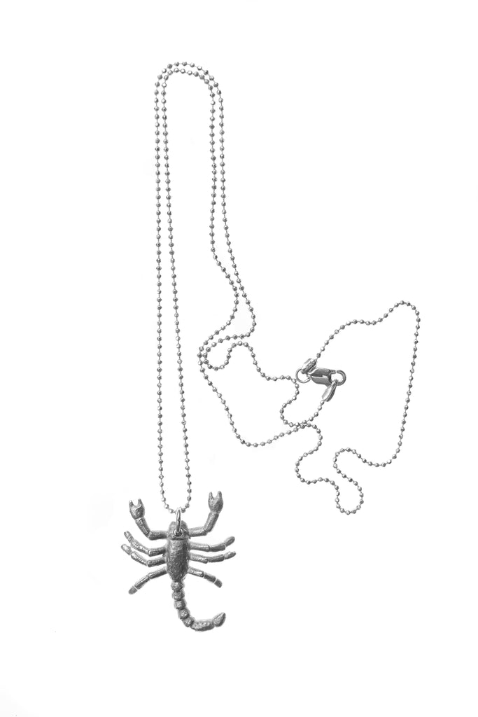 SS SCORPION CHARM NECKLACE