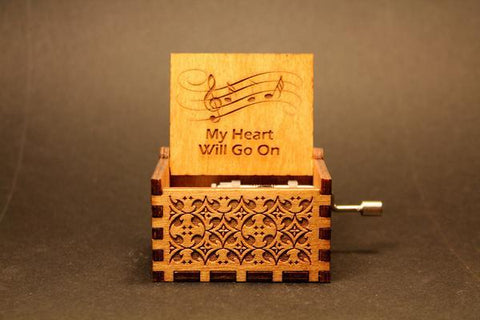 Image of Engraved Wooden Music Box My Heart Will Go On