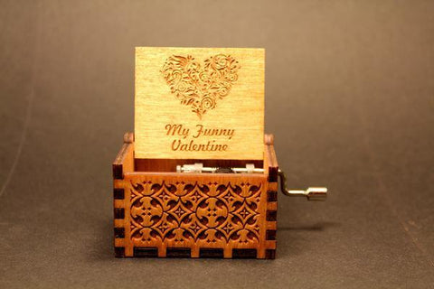 Image of Engraved Wooden Music Box My Funny Valentine