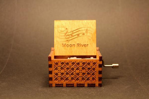 Image of Engraved Wooden Music Box Moon River